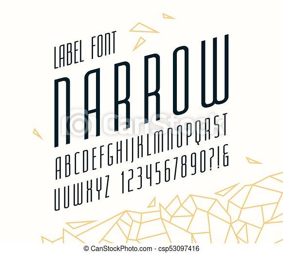 Italic Narrow Sans Serif Font