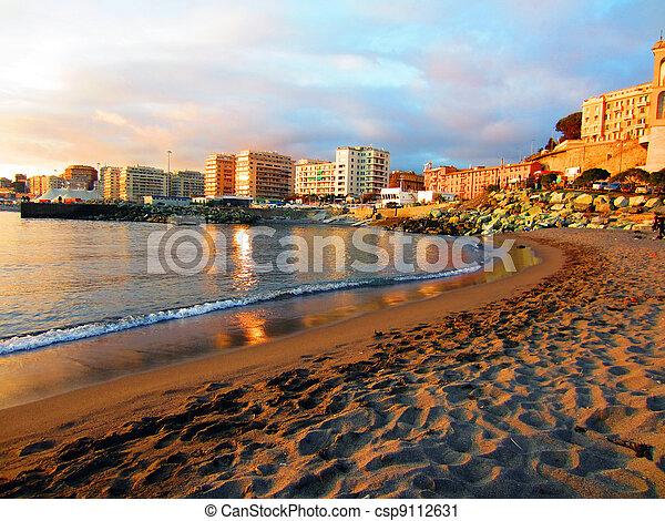 Bien-aimé Photographies de stock de italie, genova - plage, genova  RI91