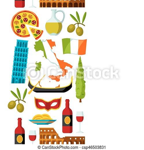Souvent Vecteurs de italie, icônes, set., symboles, objets, italien  WX53