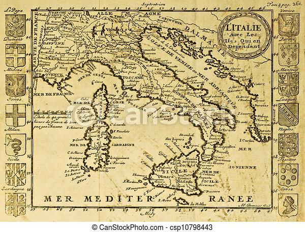 Gammal Karta Italien.Italien Gammal Karta Karta Italien Crests Maj Borjan