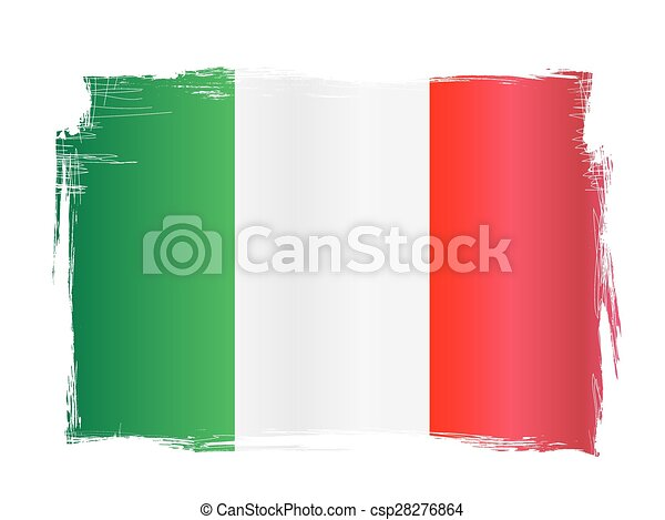italien, grungy, drapeau - csp28276864