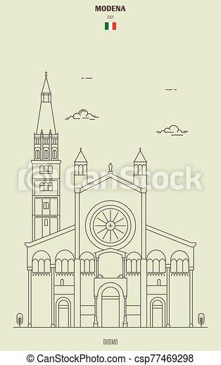 italy., ランドマーク, モデナ, アイコン, 大聖堂 - csp77469298