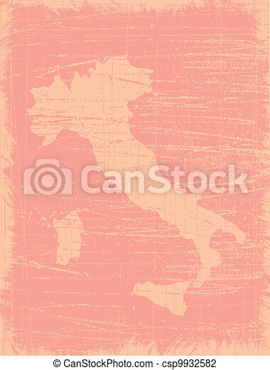Italy aged map - csp9932582