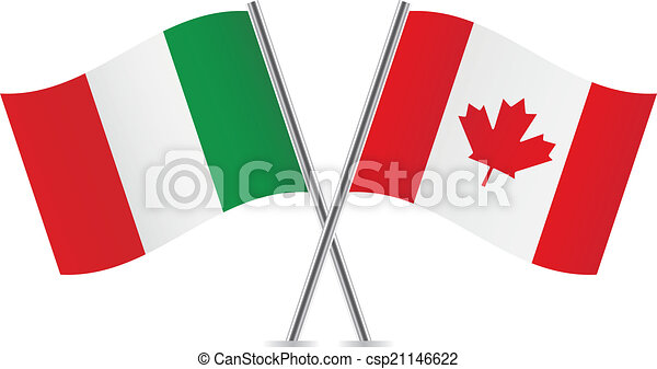 Italy and Canada flags. - csp21146622
