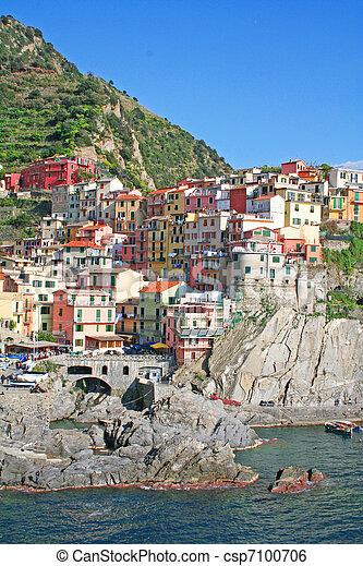 Italy. Cinque Terre. Manarola  - csp7100706