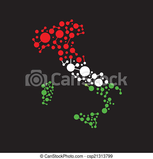 Italy dot and lines map image - csp21313799