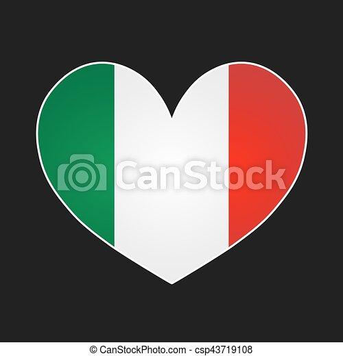 Italy heart. - csp43719108
