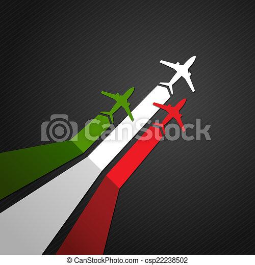 Italy plane vector - csp22238502
