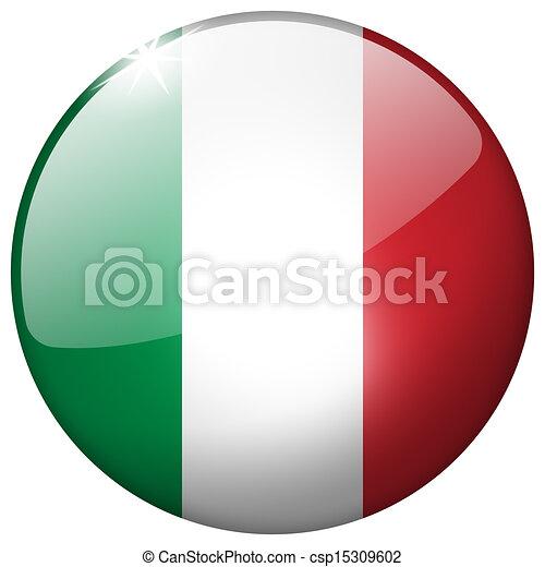 Italy Round Glass Button - csp15309602