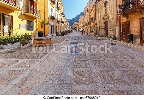 Italy. Sicily. Castellammare del Golfo. - csp67968910