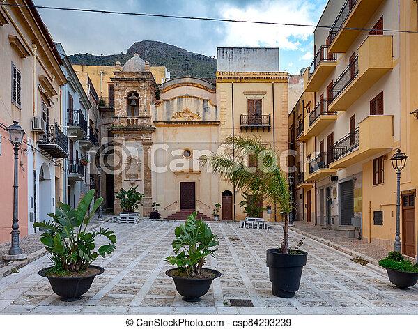Italy. Sicily. Castellammare del Golfo. - csp84293239