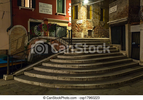 italy - venice at night - csp17960223