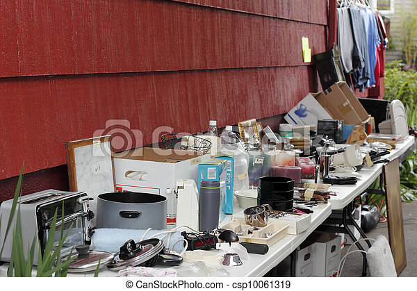 Items for Sale at a Tag Sale - csp10061319