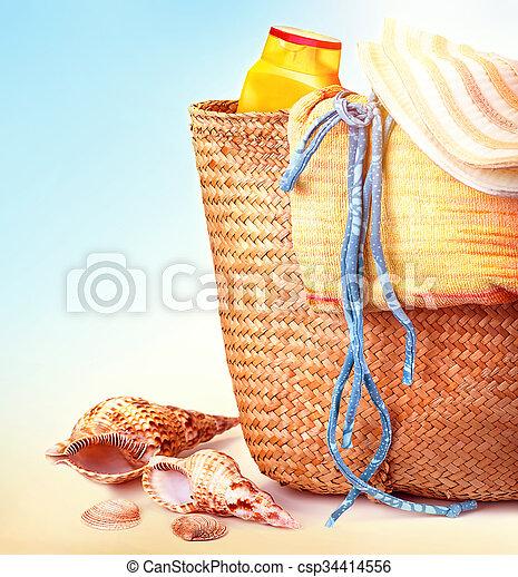 items, leven, nog, strand - csp34414556