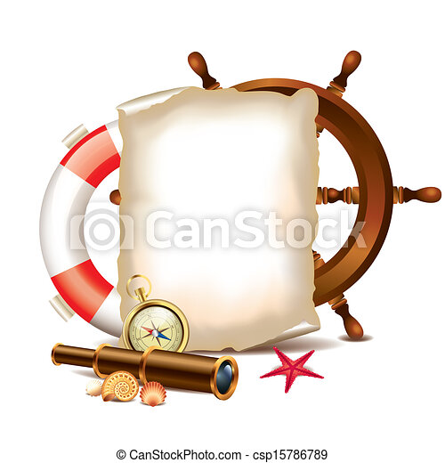 items, papier, marinier, leeg - csp15786789