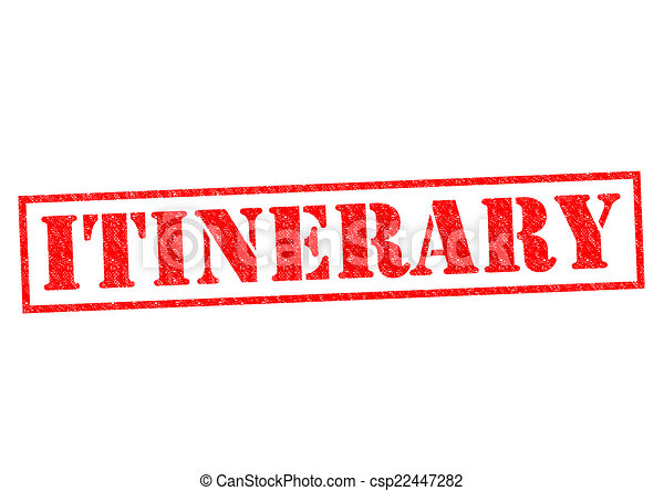 ITINERARY - csp22447282
