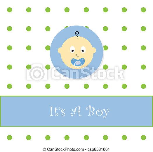 Its A Boy Announcement Cute Blue Its A Baby Boy Vector Clip - Boy announcement