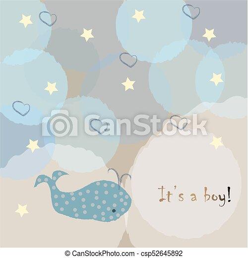 its a boy congratulations card baby shower theme csp52645892