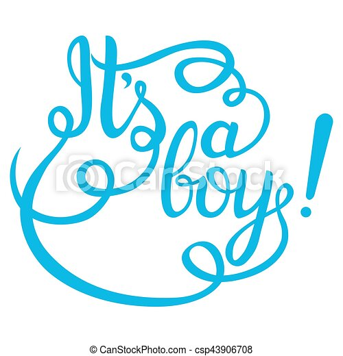 Its a boy lettering baby shower vector invitation for card and more baby shower vector invitation stopboris Image collections