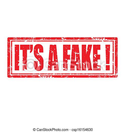 It's A Fake-stamp - csp16154630