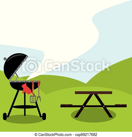 It's BBQ time. Let's get a party - csp69217682