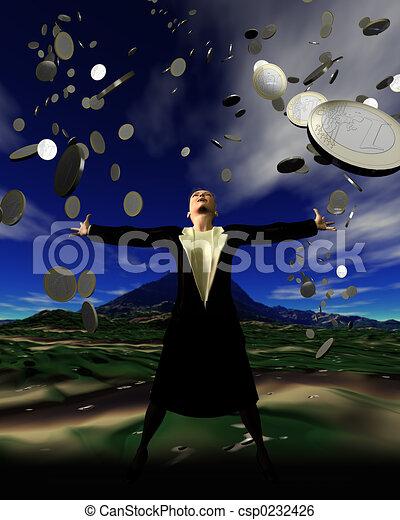 It\\\'s raining money - csp0232426