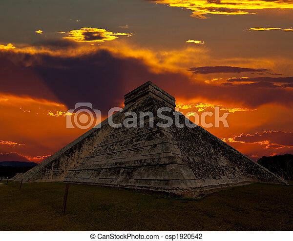 itza, chichen, 寺院, 寺院, メキシコ\ - csp1920542