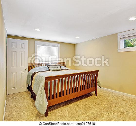 Ivoire Confortable Couleur Chambre à Coucher Intérieur Doux