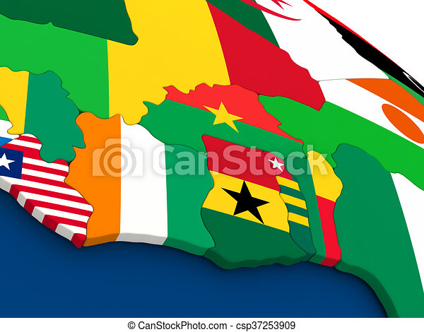 Ivory Coast, Ghana and Burkina Faso on globe with flags on venezuela map of states, austria map of states, somalia map of states, germany map of states, united states map of states, colombia map of states, china map of states, costa rica map of states, world map of states, ireland map of states, brazil map of states, dominican republic map of states, mexico map of states,