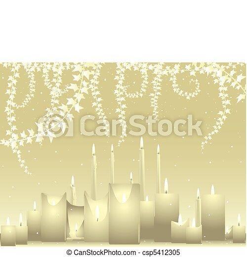 Ivory wedding background - csp5412305