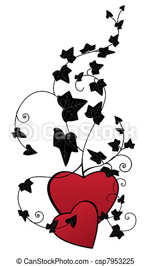 ivy and hearts - csp7953225