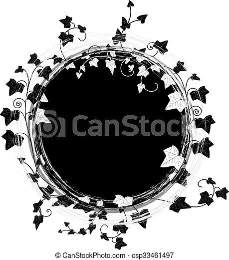 ivy round frame - csp33461497