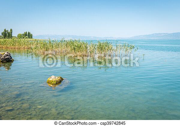 Iznik lake in Turkey. - csp39742845
