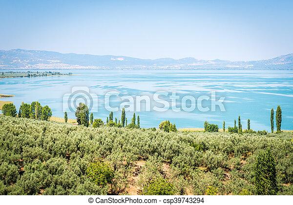 Iznik lake in Turkey. - csp39743294