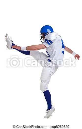 játékos, amerikai futball, rúgás - csp6269529