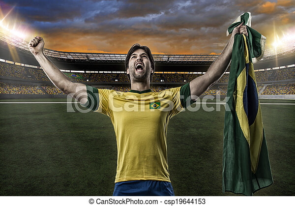játékos, futball, brazíliai - csp19644153