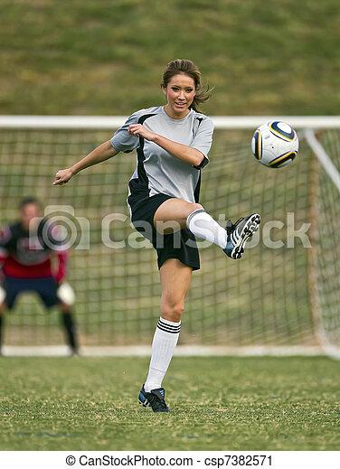 játékos, futball, női - csp7382571