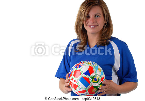játékos, futball, női - csp0313648
