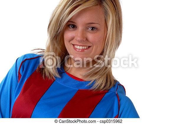 játékos, futball, női - csp0315962