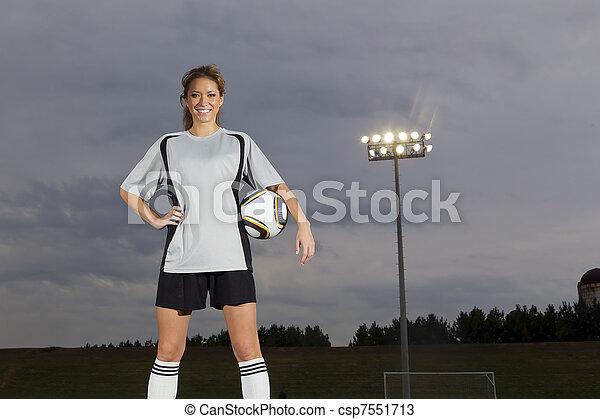 játékos, futball, női - csp7551713