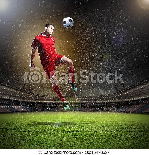 játékos, labdarúgás - csp15478627