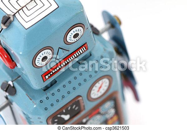 játékszer, retro, robot - csp3621503