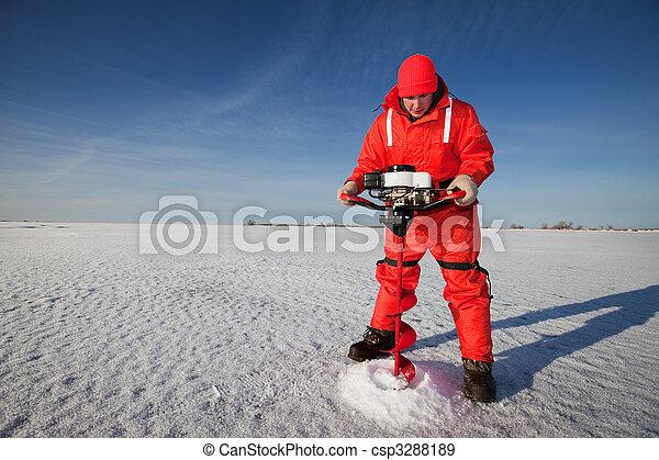jég, fúrás - csp3288189