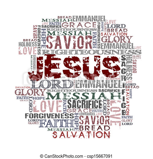 jésus, religieux, fond - csp15667091