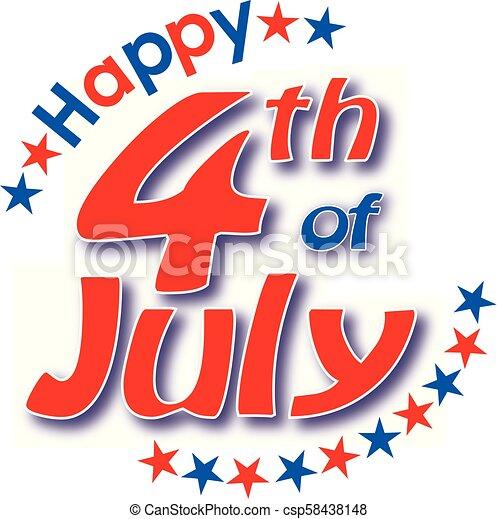 július, boldog, 4 - csp58438148