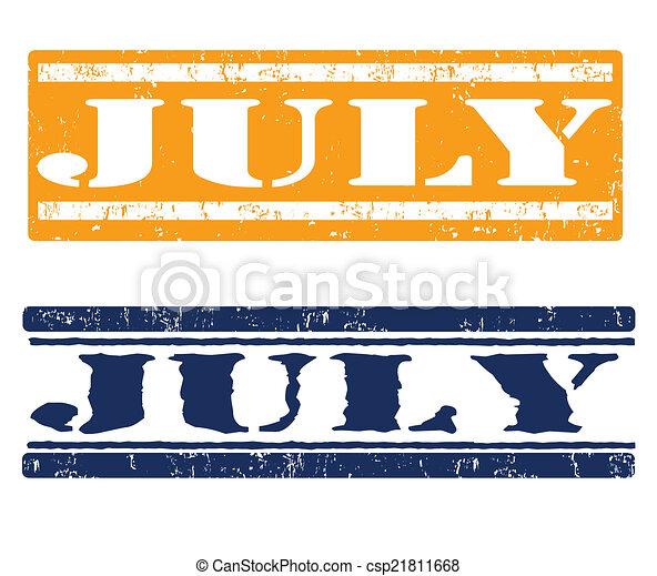 július, topog - csp21811668