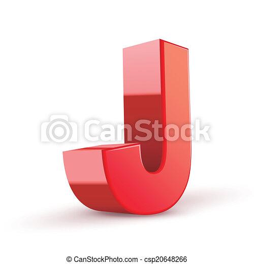 j, 赤, 手紙, 3d - csp20648266