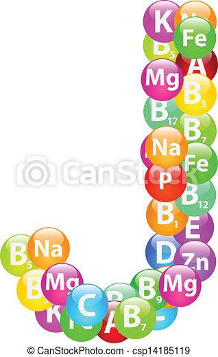 j, vitamina, lettera - csp14185119