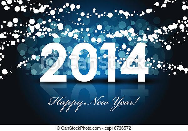 jaar, -, achtergrond, 2014, nieuw, vrolijke  - csp16736572