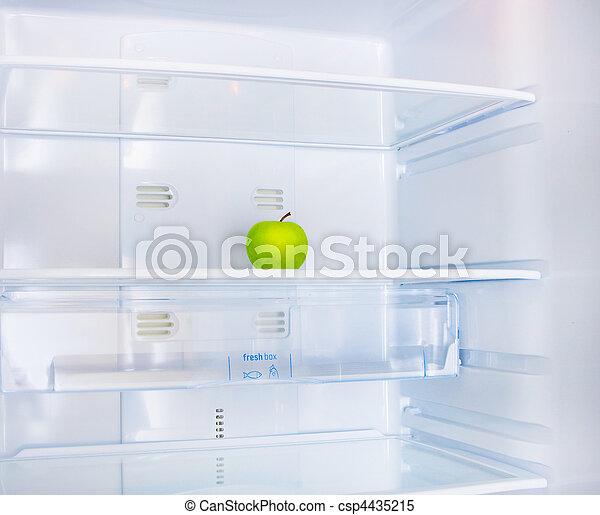 jabłko, lodówka - csp4435215